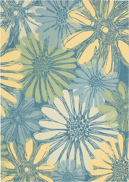 nourison home & garden rs022 blue