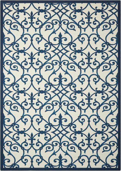 nourison home & garden rs093 blue