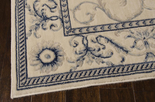 Nourison SOMERSET ST02 IVORY BLUE Detail