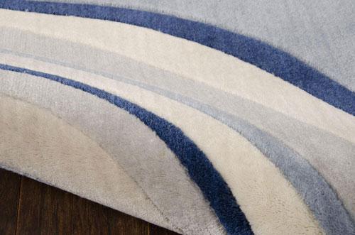 Nourison SOMERSET ST81 IVORY BLUE Detail