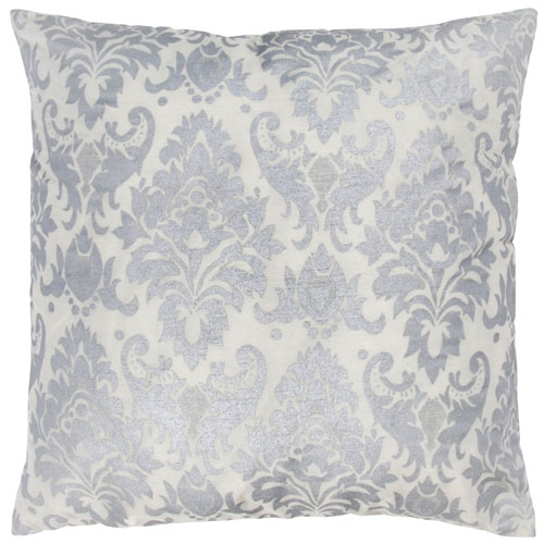 rizzy pillows polyester filled pillow t03593 silver pillow