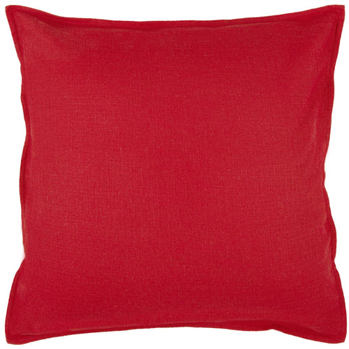 rizzy pillows polyester filled pillow t03713 red pillow