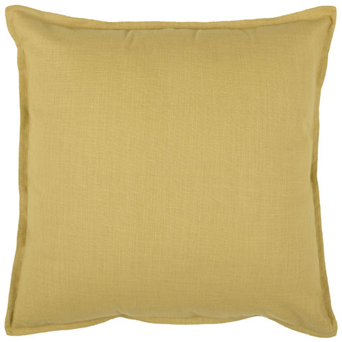 rizzy pillows polyester filled pillow t03716 yellow pillow