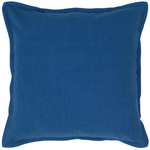 rizzy pillows polyester filled pillow t04401 indigo blue pillow