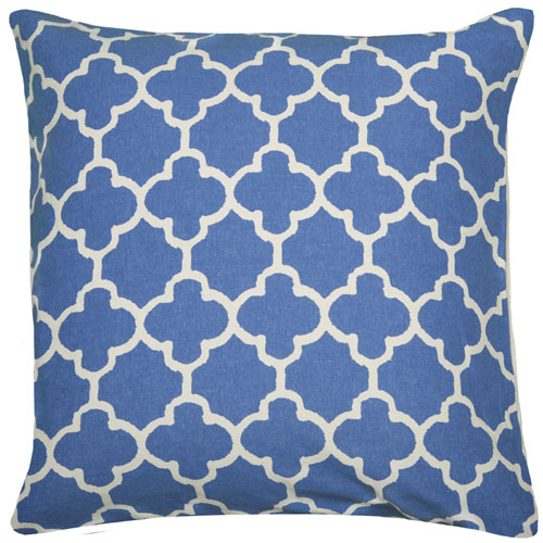 rizzy pillows polyester filled pillow t04873 blue pillow