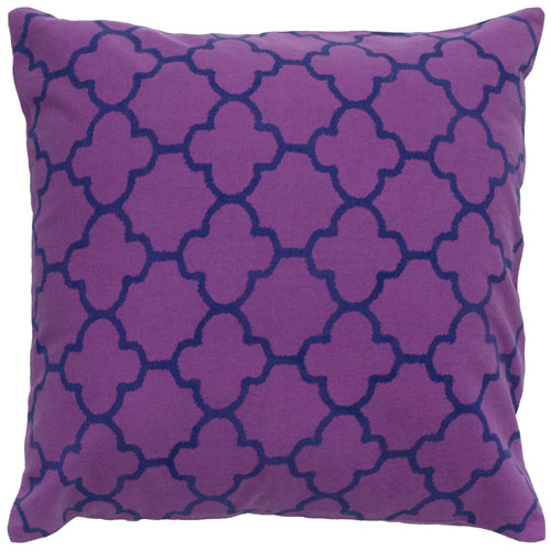rizzy pillows polyester filled pillow t04877 purple pillow
