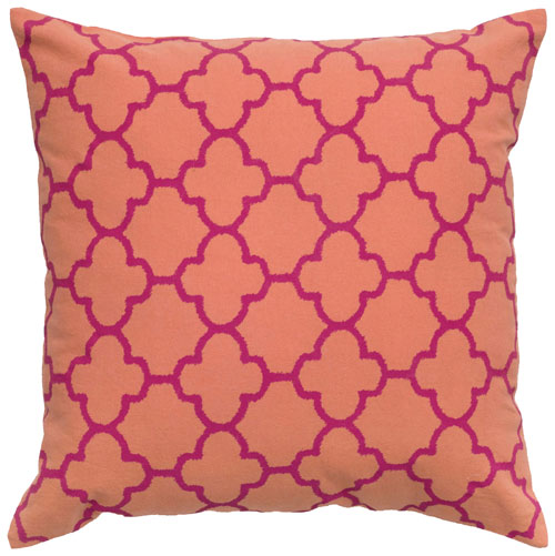 rizzy pillows polyester filled pillow t04879 orange pillow