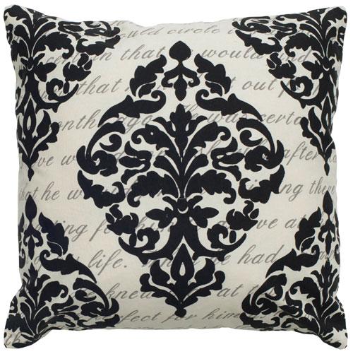 rizzy pillows polyester filled pillow t04962 cream pillow