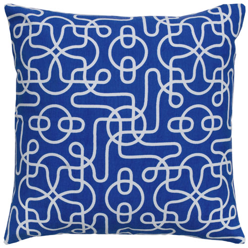 rizzy pillows polyester filled pillow t04999 blue pillow