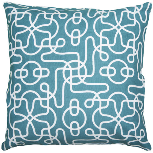 rizzy pillows polyester filled pillow t05000 peacock blue pillow