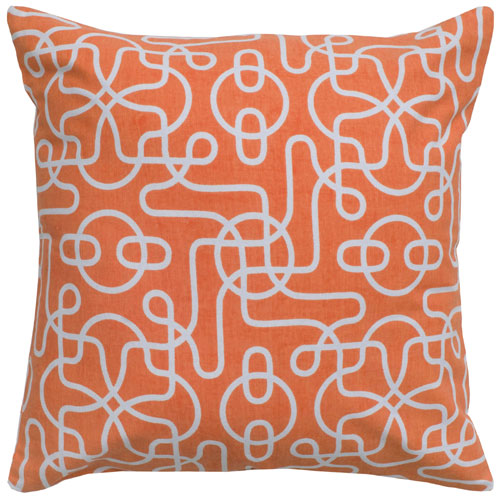 rizzy pillows polyester filled pillow t05003 orange pillow