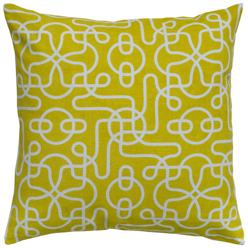 rizzy pillows polyester filled pillow t05005 yellow pillow