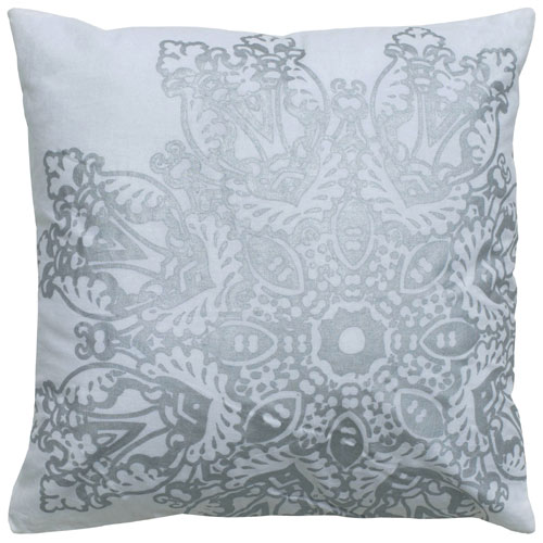 rizzy pillows polyester filled pillow t05007 white pillow