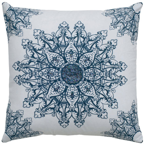 rizzy pillows polyester filled pillow t05018 white pillow