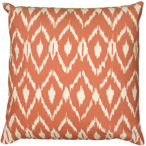 rizzy pillows polyester filled pillow t06150 orange pillow