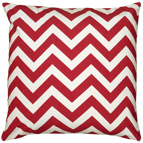 rizzy pillows polyester filled pillow t06157 red pillow