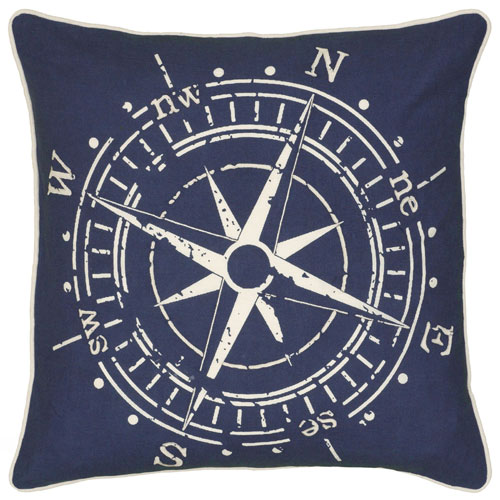 rizzy pillows polyester filled pillow t06392 blue pillow