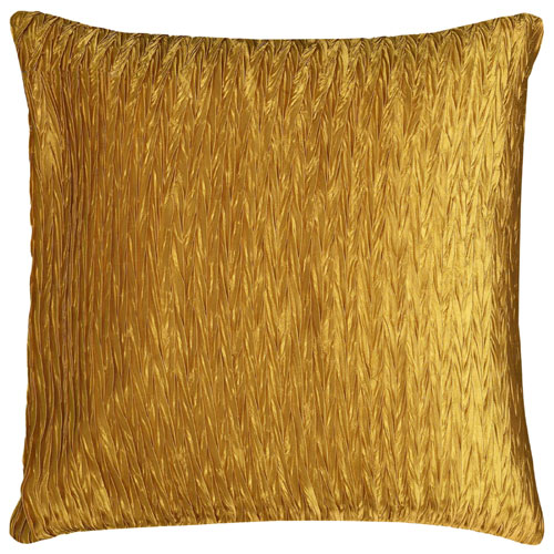 rizzy pillows polyester filled pillow t06486 gold pillow