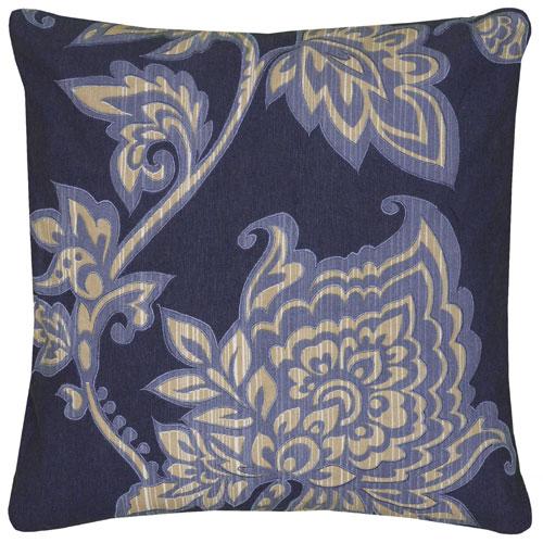 rizzy pillows polyester filled pillow t06526 blue pillow