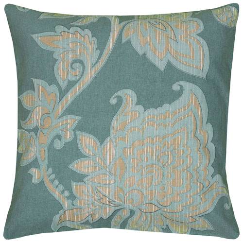 rizzy pillows polyester filled pillow t06530 teal pillow
