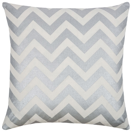 rizzy pillows polyester filled pillow t08777 silver pillow