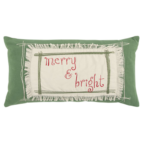 rizzy pillows holiday polyester filled pillow t13337 green pillow