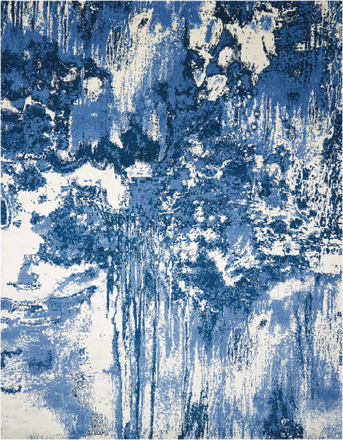 Nourison TWILIGHT TWI24 BLUE/IVORY Rug