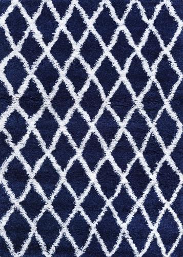 couristan urban shag temara navy blue/white