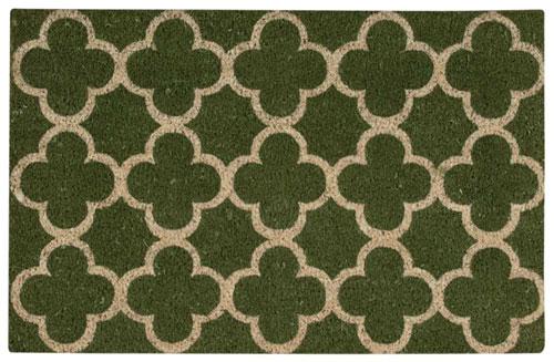 waverly mats wav17 greetings wgt11 green mat