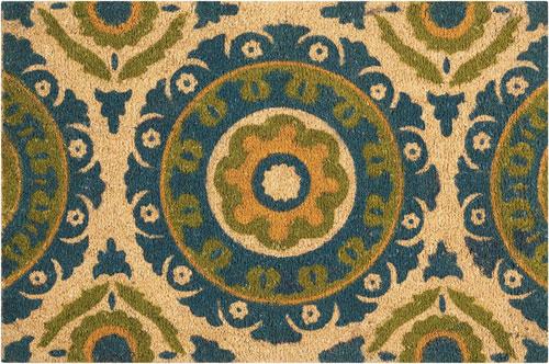 waverly mats wav17 greetings wgt15 blue green mat