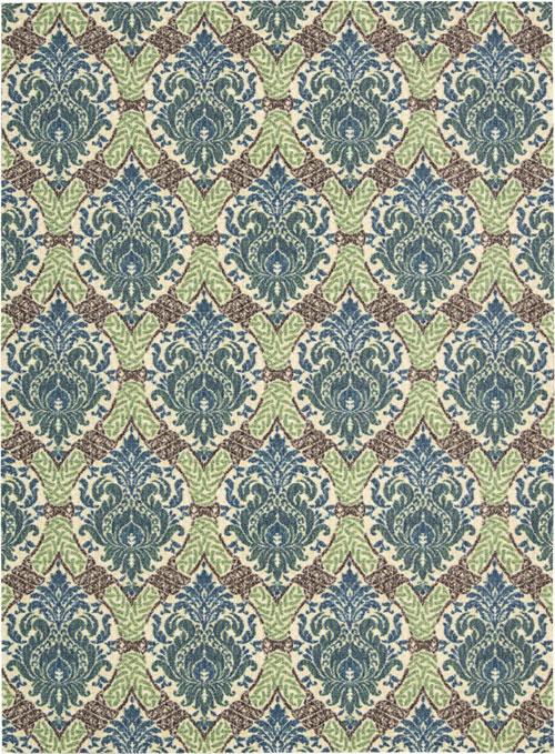 nourison wav16 treasures wtr03 blue jay