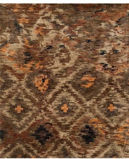 loloi xavier xv-08 rustic brown