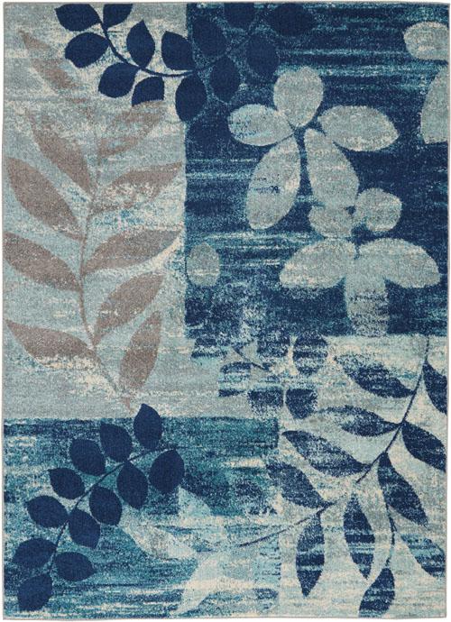 Nourison Tranquil TRA01 Navy/Light Blue Rug