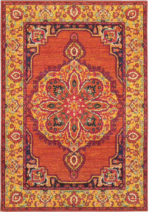 oriental weavers bohemian 3339y orange
