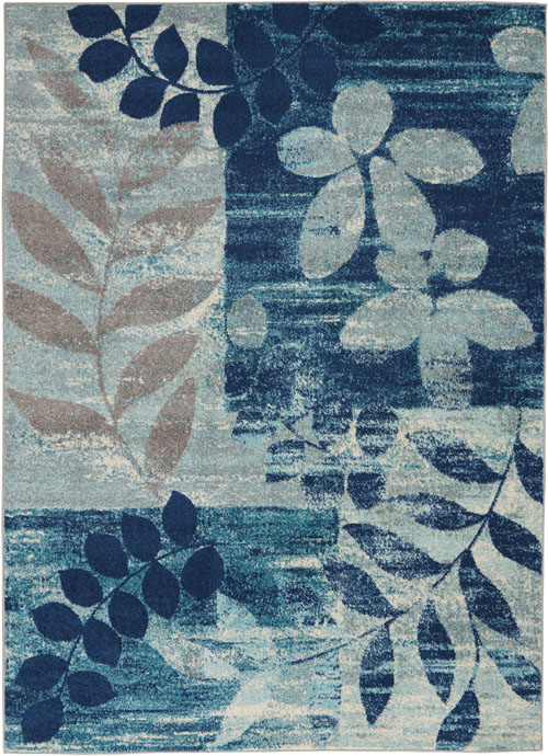 Nourison Tranquil TRA01 Navy/Light Blue Rug