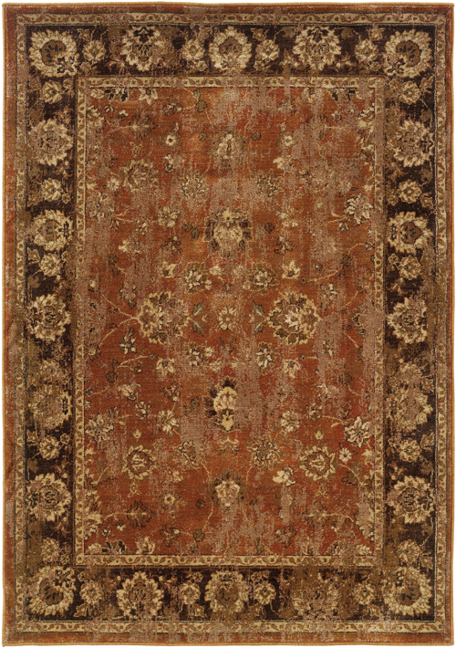 oriental weavers casablanca 4465e orange