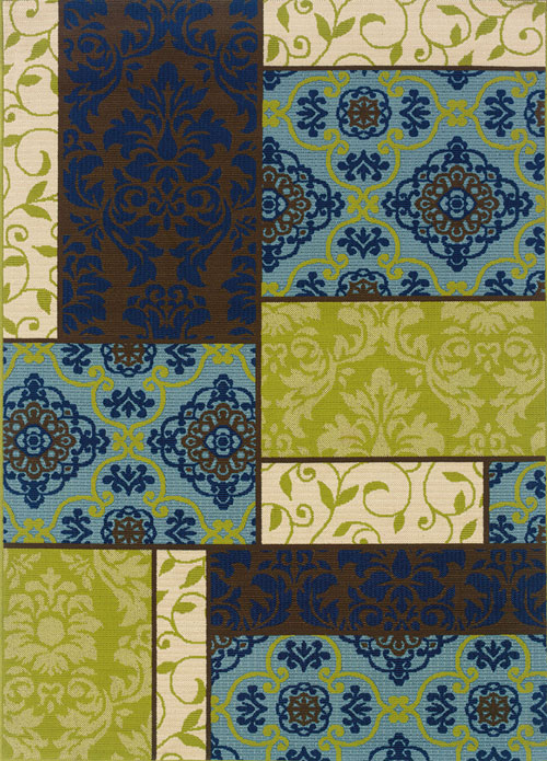 oriental weavers caspian 3066v brown
