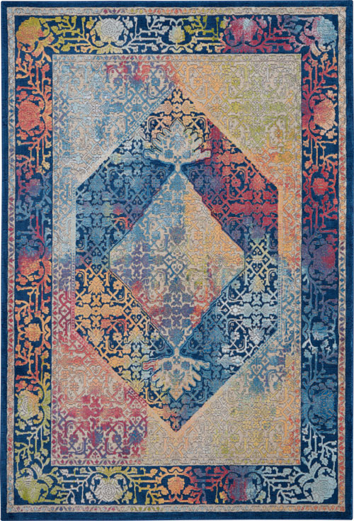 Nourison Global Vintage GLB04 Blue/Multicolor