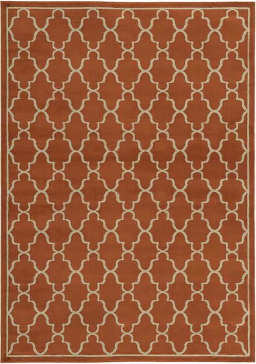 oriental weavers ella 5186r rust