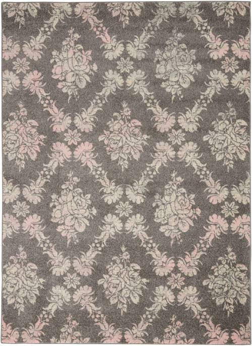 nourison tranquil tra09 grey/pink