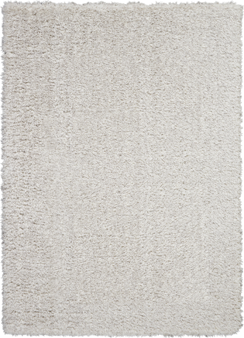 Nourison Luxe Shag LXS01 Light Grey Rug