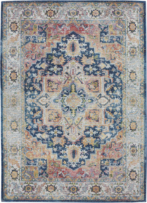 Nourison Ankara Global ANR11 Blue/Multicolor