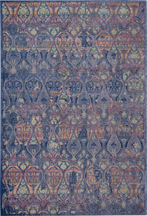 Nourison Global Vintage GLB08 Navy/Multicolor Rug