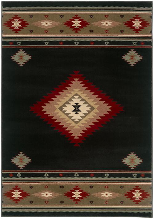 oriental weavers hudson 087g1 black