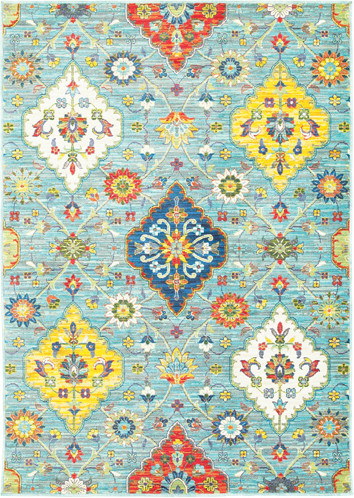 oriental weavers joli 4929l blue