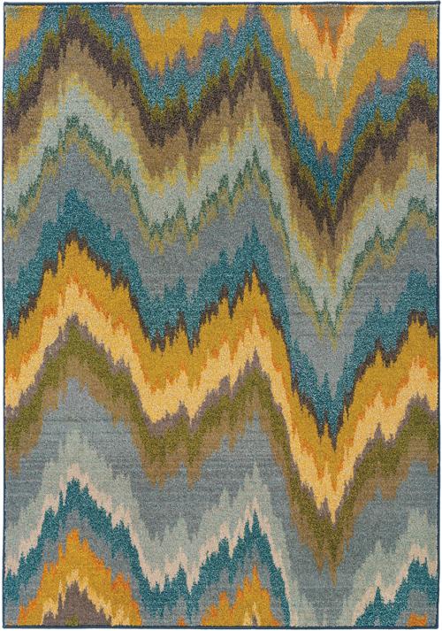 oriental weavers kaleidoscope 8020g yellow