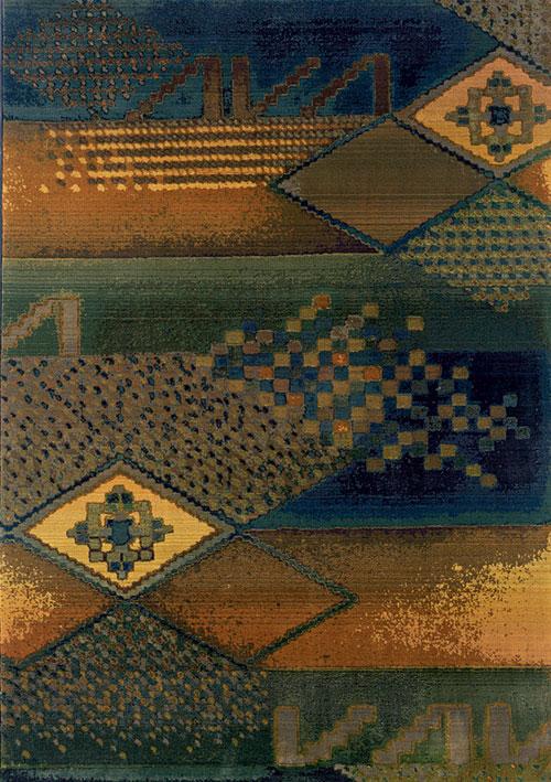 Oriental Weavers Green Rug Kharma Ii 1092w