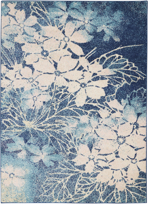 Nourison Tranquil TRA08 Navy/Pink Rug