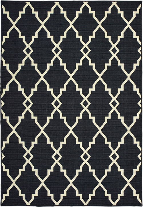 oriental weavers marina 7763k black