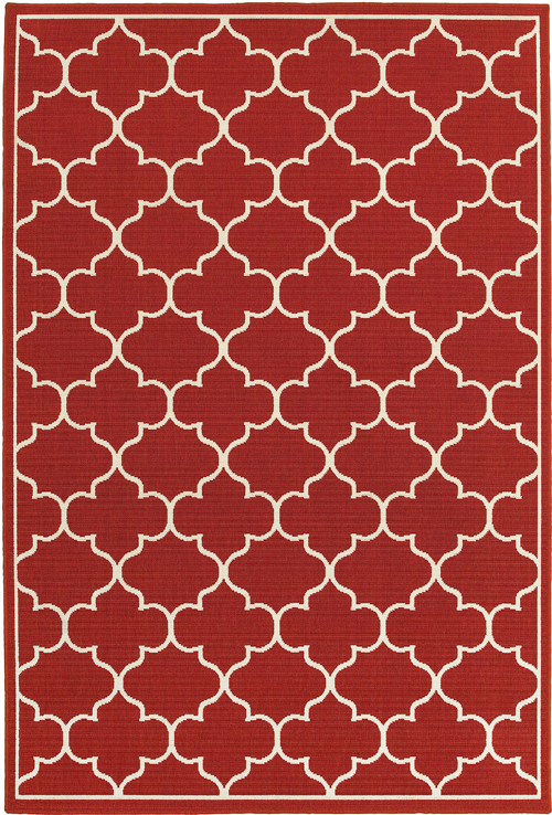 oriental weavers meridian 1295r red